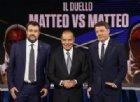 Matteo Renzi felice per il confronto: «Salvini? Un disco rotto»
