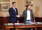 Spagna, pre-accordo per formare Governo tra il premier Sanchez e leader Podemos