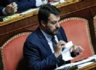 Matteo Salvini cita i figli in Senato e l'Aula rumoreggia, standing ovation dei Senatori leghisti
