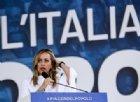Giorgia Meloni alla piazza: «Facciamo paura perché noi siamo il popolo, loro le élite»
