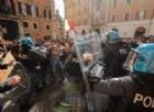 Tensioni tra ristoratori e polizia alla manifestazione in piazza Montecitorio