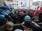Un momento della protesta dei commercianti a Roma