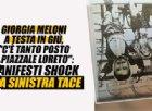 Torino, poster con Giorgia Meloni a testa in giù. Lei: «Attendo fiduciosa che la sinistra si dissoci»