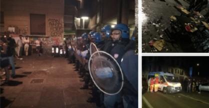 Le immagini degli scontri in zona Vanchiglia