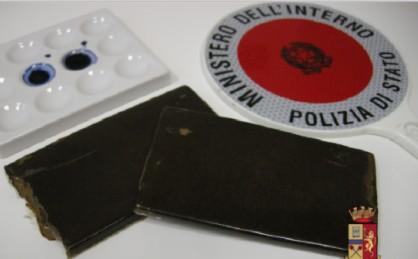 La droga sequestrata dalla Polizia di Stato