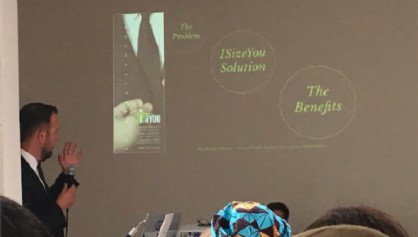 Canepa durante una presentazione