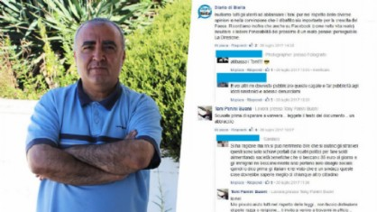 Il sindaco di Mongrando Antonio Filoni e le frasi contro di lui