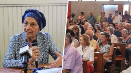 Emma Bonino e parte del pubblico in chiesa, a Cossato