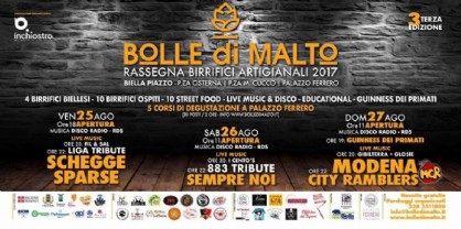 Biella, al Piazzo arriva «Bolle di Malto»