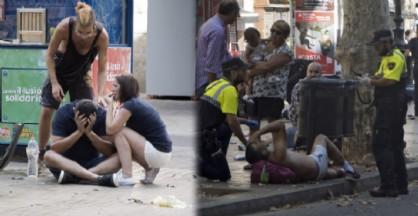 I primi soccorsi dopo l'attentato a Barcellona