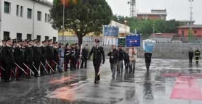 Cerimonia all'interno del comando provinciale dell'Arma dei carabineri