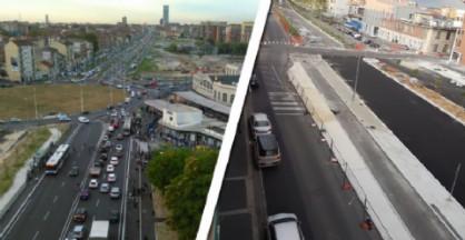 Corso Venezia, la viabilità in tilt