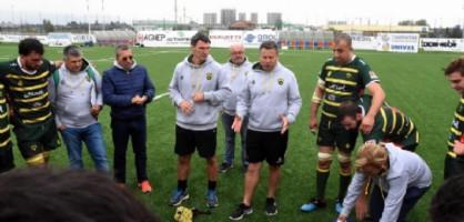 Un momento di un allenamento del Biella Rugby