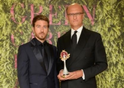 Alessandro Roja ha presentato e consegnato il premio Eco Stewardship a Paolo Zegna