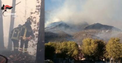 L'incendio ha devastato almeno un centinaio di ettari di bosco