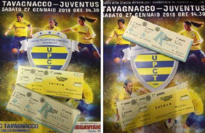 Parte la prevendita per Tavagnacco–Juventus