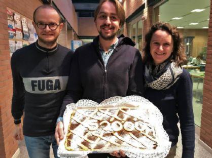 I bibliotecari Alberto Cerini, Simona Levis e Walter Ruffato