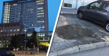 Il parcheggio vicino all'ospedale Cto