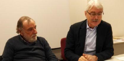 Il coordinatore del Capla Fvg De Michielis e il presidente regionale Cna pensionati Di Lena