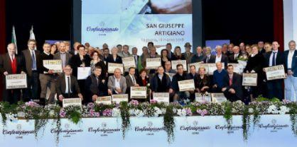 San Giuseppe artigiano: premiati 58 imprenditori benemeriti