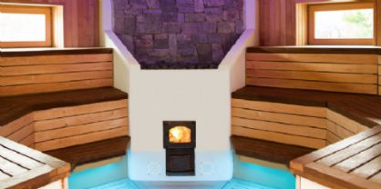 Nuova sauna esterna all'Aquarius di Magnano in Riviera