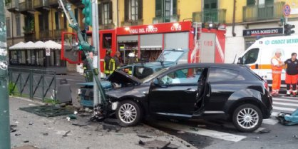 Il tragico scontro in via Cigna