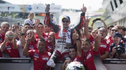 Jorge Lorenzo, vincitore dell'ultimo GP in Austria