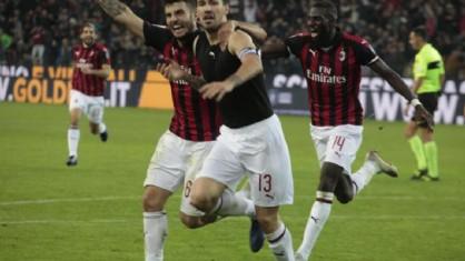Il Milan segna il gol della vittoria in zona Cesarini