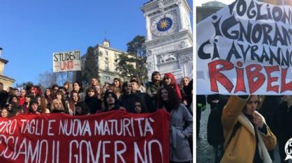 Più di mille studenti in piazza contro governo e 'buona scuola'