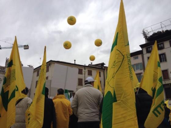 Gli allevatori protestano a Udine