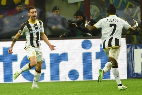 Il portoghese Bruno Fernandes è uno dei migliori talenti dell'Udinese