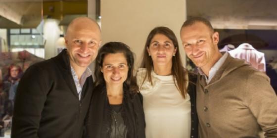 Da sinistra i fratelli Alberto e Vittorio Chalon con le rispettive mogli Esther e Hanna