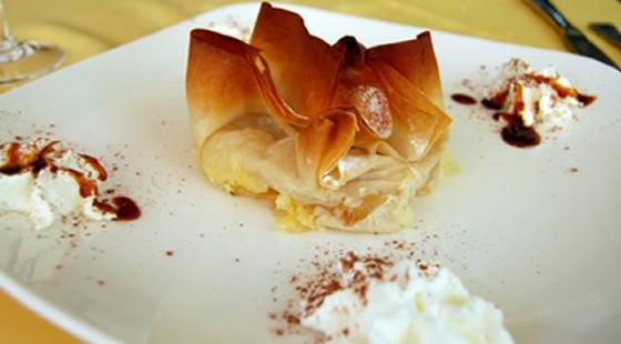Un raffinato dessert al ristorante Castello di Trussio