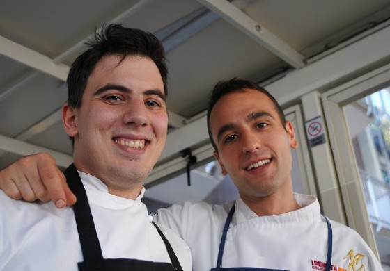Daniele Giulietti, sous chef, con Niccolò  ...