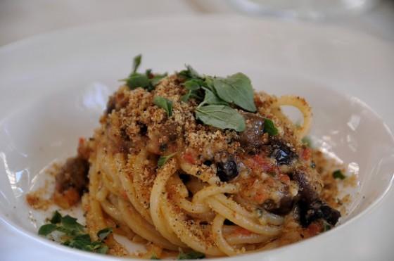 Spaghetti alle olive taggiasche