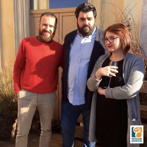 Da sinistra Zegna, Cannavacciuolo e Marrazzo