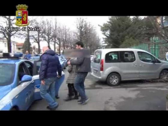 Immagine di uno degli arresti di ieri
