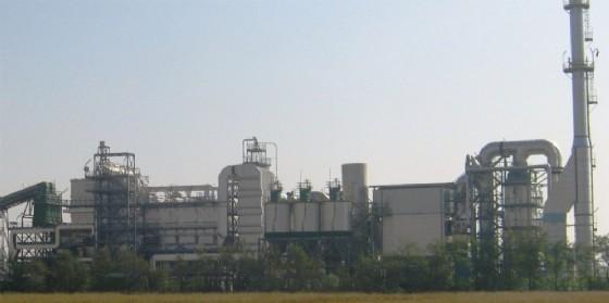 La centrale a biomasse «incriminata» (© Guardia di Finanza Fvg)