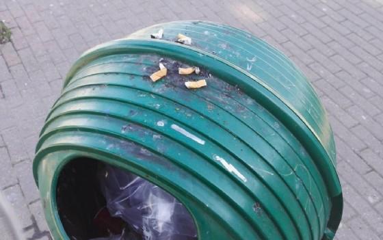 La nuova abitudine, spegnerle e lasciarle sopra i cestini (© Diario di Torino)