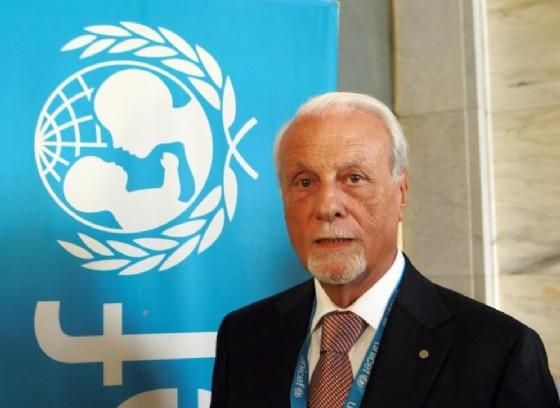 Il presidente di Unicef Italia, Giacomo Guerrera