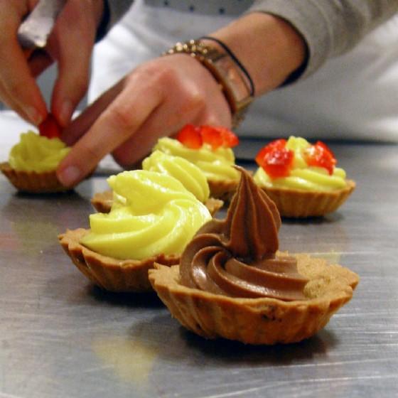 uno dei dolci preparati durante il corso uno dei corsi di cucina di Liberty