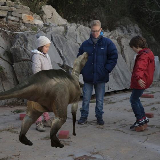 Antonio in realtà aumentata (© Ufficio stampa Volpe&Sain)