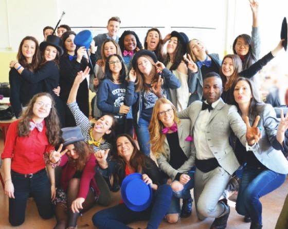Il gruppo di studenti impegnati nell'iniziativa