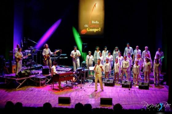Il Biella Gospel Choir, uno dei protagonisti musicali dell'evento (© credits courtesy of Ufficio Stampa Biella Jazz Club)
