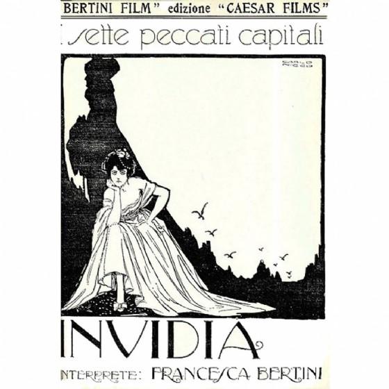 Invidia film poster by Carlo Nicco 1919