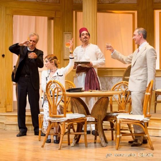 un'immagine dello spettacolo in scena tratta dalla Pagina Facebook de La Contrada