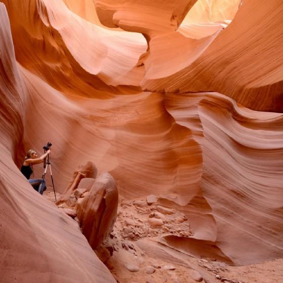 Barbara Essl nei Canyon (© Barbara Essl)