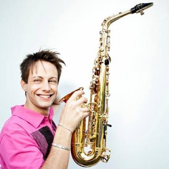Matteo Cigalini e il suo sassofono (© Comune di Pordenone)