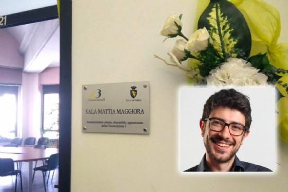 Intitolata la Sala Coordinatori a Mattia Maggiora (© Francesco Daniele)