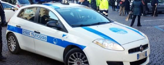 Un'auto della polizia locale di Udine (© Diario di Udine)